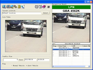 Software updation of license plate recognition number plate